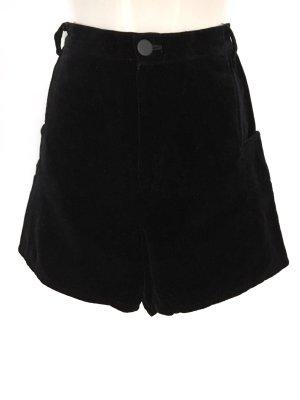 True Vintage Highwaist Samt Shorts Velvet Schwarz Minimal Chic