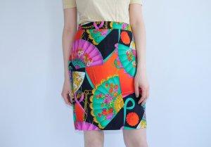 Pencil Skirt multicolored viscose