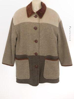 True Vintage Hippie Boho Woll Mantel Jacke Winter Alpaca