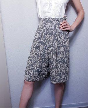Vintage Culotte Skirt white-green grey