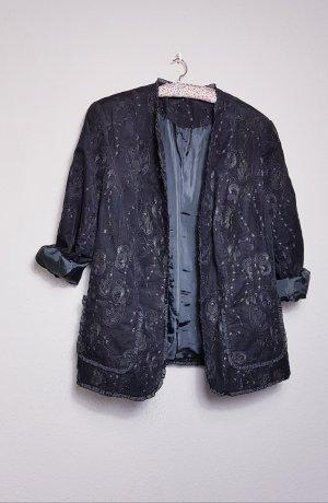True Vintage Jacke, Kord Jacke, bestickt, Gothic, Grunge