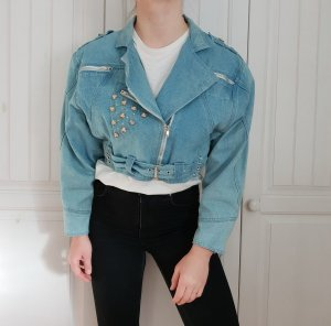 True vintage Jeansjacke Bikerjacke jeans Biker Jacke Oversize Mantel Pulli Pullover