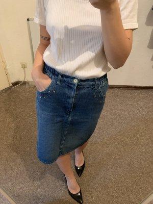 Vintage Jupe en jeans multicolore