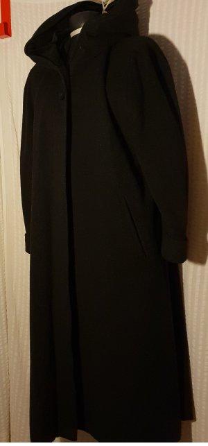 Manteau en laine taupe-gris anthracite cachemire