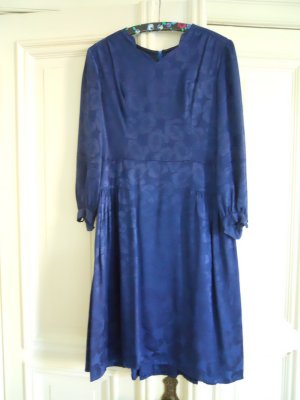 True Vintage Kleid Boho Dress Hippie Blumen dunkelblau