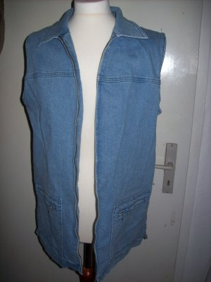 True Vintage Lässige Jeansweste Oversized/ Boho Hippie Festival Look