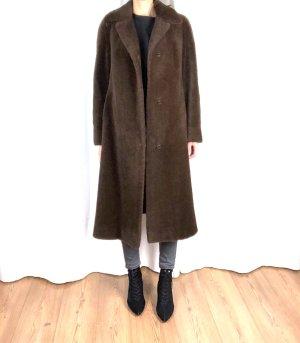 True Vintage Lama-Haar Mantel Cosy 70ies Plüsch Clean Chic