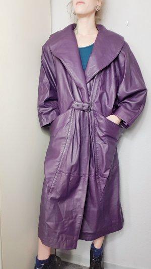 Vintage Cappotto taglie forti blu-viola