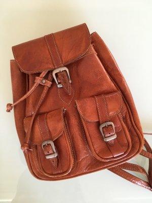 True Vintage Leder Rucksack - Real Vintage Retro leather backpack