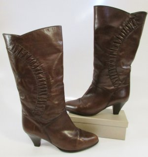 Gabor Western Boots brown-dark brown leather