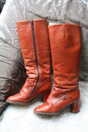 True Vintage Lederstiefel, Stiefel, 36, Leder, rotbraun