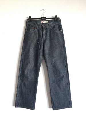 True Vintage Levis grau-blaue gerade geschnittene Jeans
