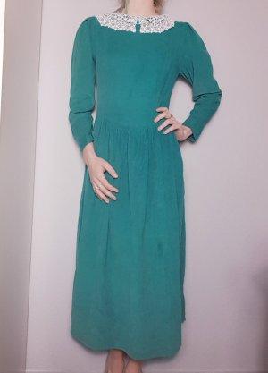 True Vintage Maxikleid, Cord Kleid, Bubikragen, lange Arme