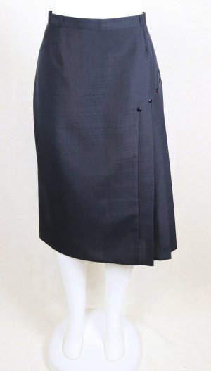 Vintage Plooirok zwart Polyester