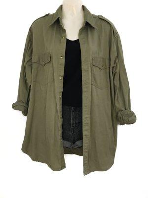 True Vintage Military Look Hemd Oversize Khaki Oliv