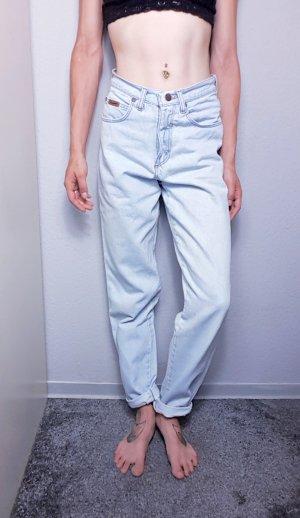 Vintage Jeans carotte bleu azur