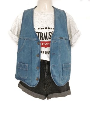 True Vintage Mustang Jeans Weste Denim Washed Look