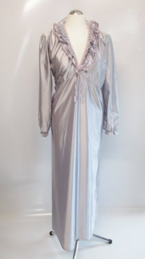 Vintage Negligee silver-colored-light pink polyester