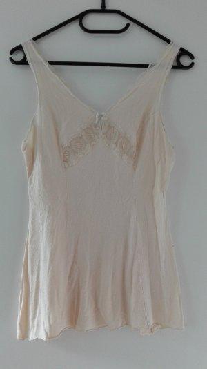True Vintage Negligee Spitze Top rosa beige nude