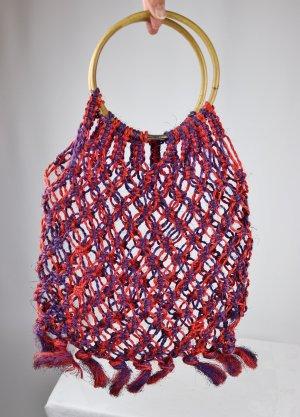 Vintage Burlap Bag multicolored