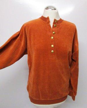 Vintage Maglione oversize arancione scuro-ruggine Tessuto misto