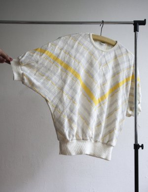 Knitted Top yellow-white