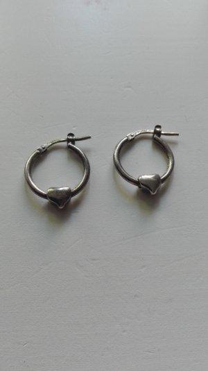 True Vintage Ohrringe 925 silber Herz Herzen Echtsilber sterling