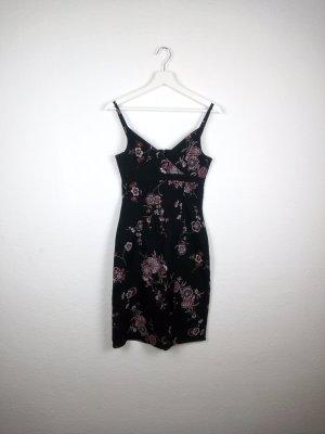 true vintage orsay kleid 38 S sommerkleid schwarz geblümt fashion blogger party