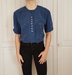 True Vintage Oversize bluse blau hemd t-shirt shirt tshirt pulli pullover sweater hoodie