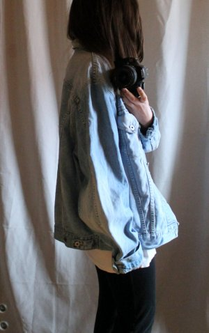 True Vintage oversized helle Jeansjacke / Oldschool / Minimal