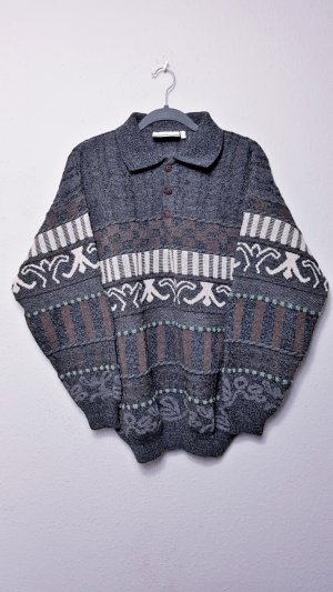 True Vintage Oversized Pullover, Grunge, Hippie, Wolle, gemustert, unisex, hipster