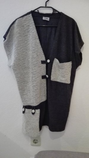 True Vintage Oversized Weste Winterweste M 38 Baumwolle schwarz