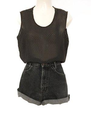 True Vintage Polka Dot Top Shirt Pünktchen Transparent Blogger Style Basic