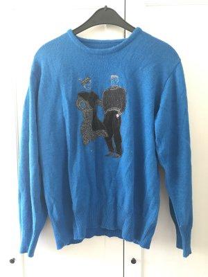 True Vintage Pullover Blau
