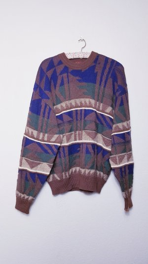 Vintage Oversized trui veelkleurig