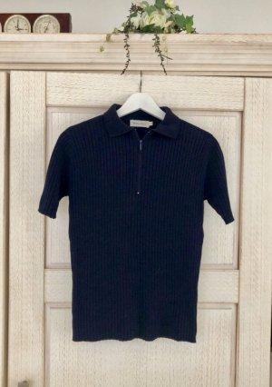 Vintage Maglione a maniche corte blu scuro