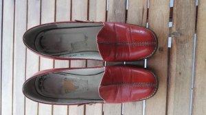 Escarpins Mary Jane rouge carmin cuir