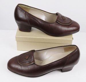 Vintage Loafer marrone scuro-marrone Pelle