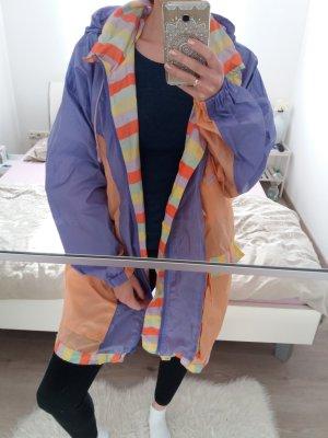 Vintage Regenjas lila-babyblauw