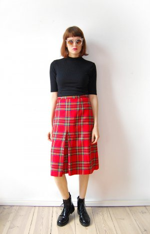 Wool Skirt red-blue wool
