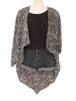 True Vintage Seiden Bluse Hemd 100% Silk Giraffen Muster Eyecatcher
