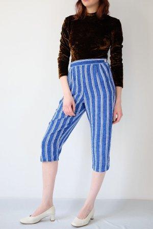 Pantalón pirata azul neón-blanco Viscosa