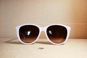 true vintage sonnenbrille pastell flieder weiß