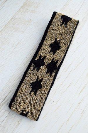 True Vintage Stirnband Gold Glitzer Sterne Astronomie Goa Achtziger Metallic