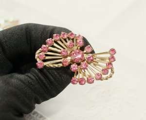 Brooch pink-gold-colored