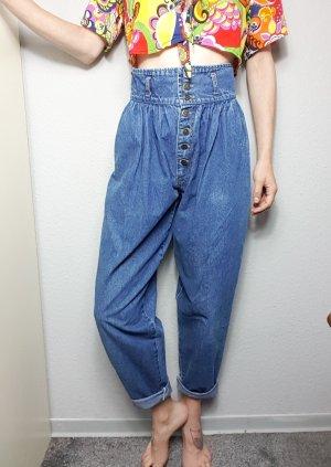Vintage Wortel jeans blauw