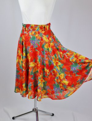 Vintage Circle Skirt multicolored polyester