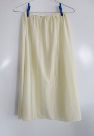 Vintage Sottogonna giallo chiaro-giallo pallido Poliammide