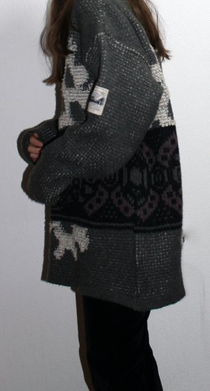 True Vintage warmer oversized Rollkragenpullover mit Aztekenmuster