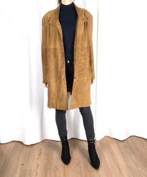 Leather Jacket cognac-coloured-brown suede